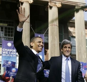 Barack Obama and JohnKerry