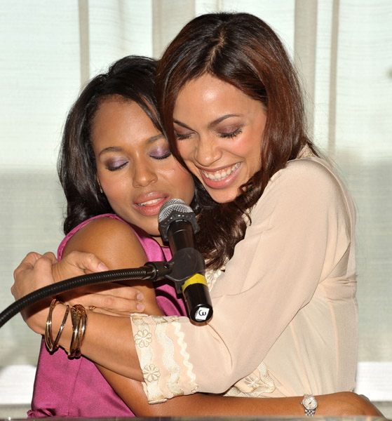 Kerry Washington and Rosario Dawson