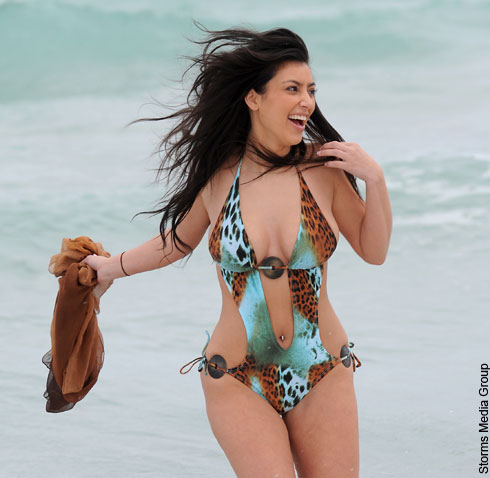 Kim Kardashian was spotted at the beach in Miami, no back shots in ...
