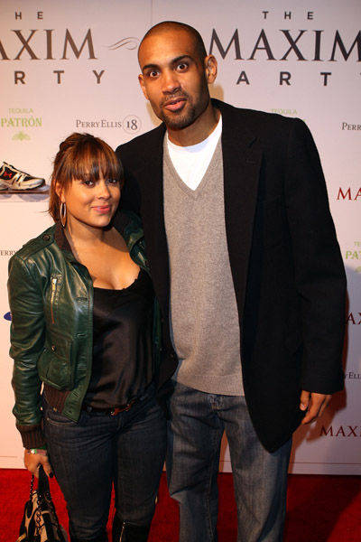 grant hill foto. Grant Hill and Tamia