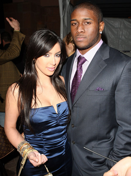 Kim K and Reggie Bush