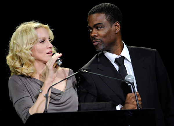 Madonna and Chris Rock