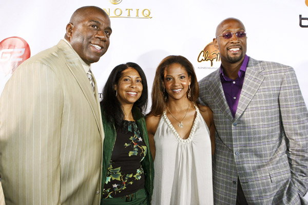 Magic and Cookie and Tracy and Alonzo Mourning