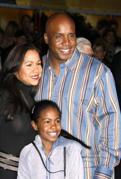 Barry Bonds and family