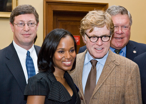 Kerry Washington and Robert Redford