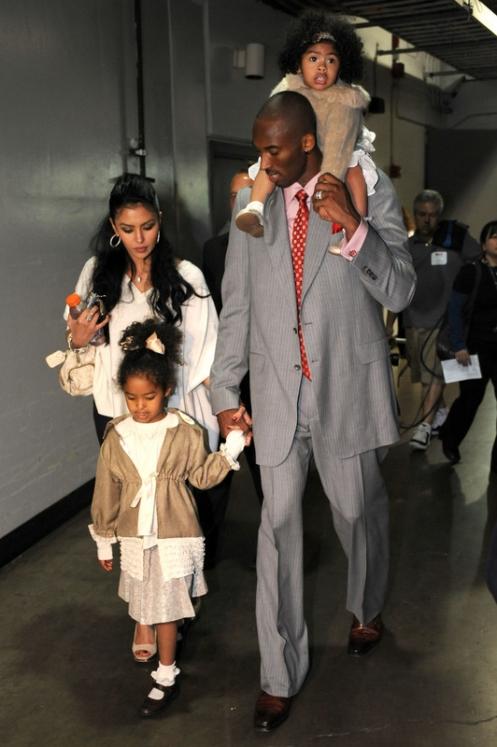 kobe bryant wife and kids. Kobe Bryant and his MVP swag