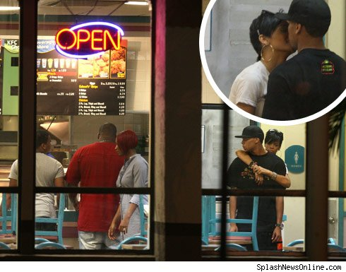 chris brown kissing rihanna