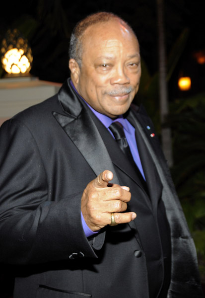 Quincy Jones aka King of the Young Jawns, and Charlize Theron were also on ...