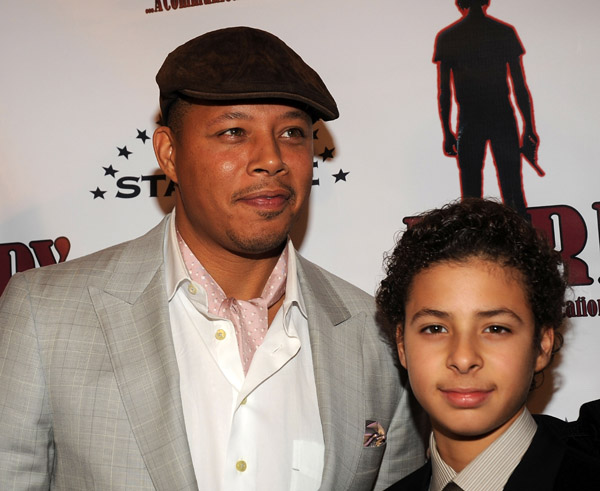 Photo of Terrence Howard & his  Son  Hunter Howard