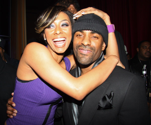 DJ Clue and Keri hilson posed for pics during a birthday party for he and