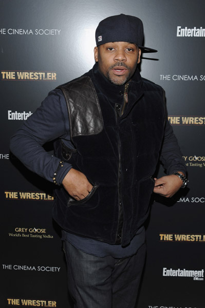 "Producer Damon Dash attends the Cinema Society and Entertainment Weekly screening of ""The Wrestler"" at the Tribeca Grand Screening Room on December 8, 2008 in New York City."