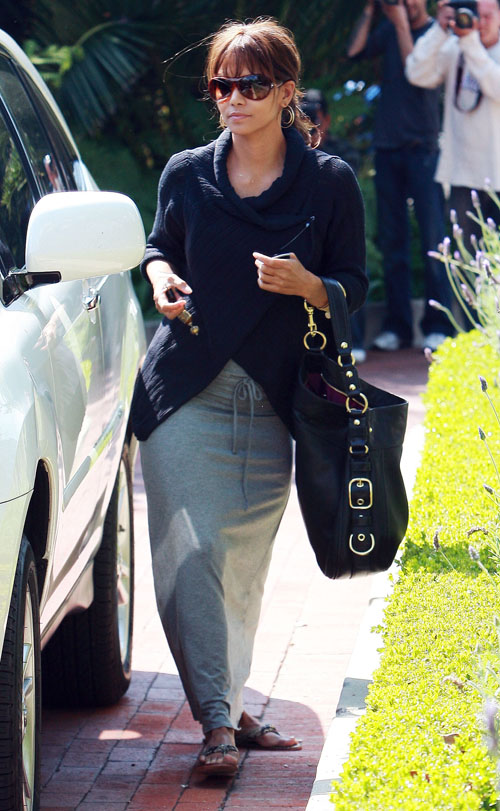Halle Berry Visiting A Friend In The Hollywood Hills