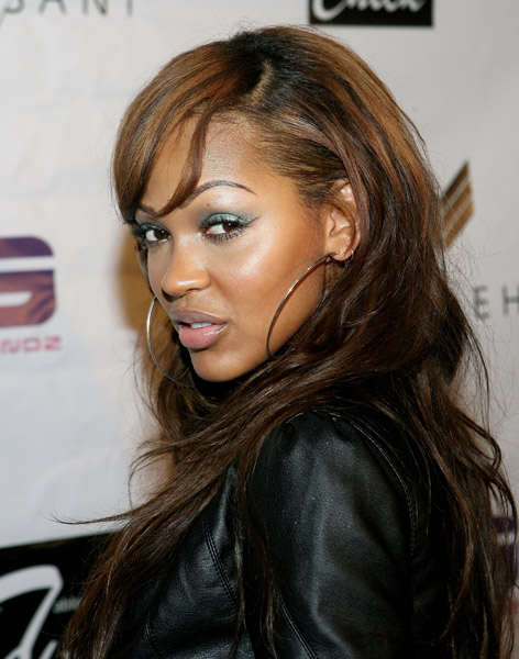 meagan good hairstyle. Meagan Good amp; Her Sister