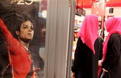 APTOPIX Mideast Bahrain Michael Jackson