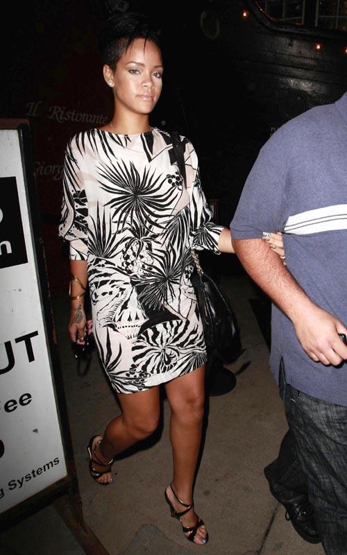 Rihanna Leaving The Giorgio Baldi Restaurant