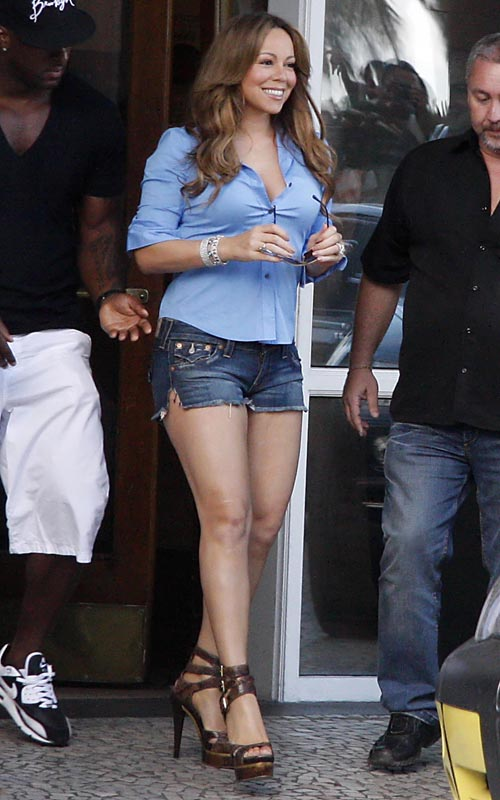 Mariah Carey Seen Leaving The Copacabana Palace Hotel (USA AND O