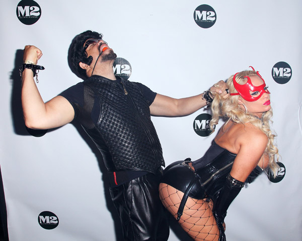 Ice T And His Classy Wife Coco Hit Up The M2 Ultra Lounge In NYC To Get Their Halloween Celebration On Real Proper Like Costumes Accompanying Pose