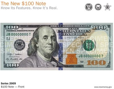 old 100 dollar bill back. old 100 dollar bill back.